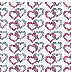 Nice heart symbol to love and passion background vector