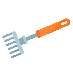 plant hand rake icon flat style vector image