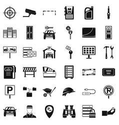 privacy icons set simple style vector image