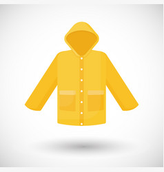Raincoat flat icon vector