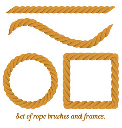 rope brush and frame vector image