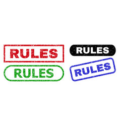 Rules rectangle watermarks with unclean texture vector