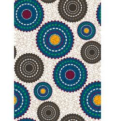 Seamless african wax print fabric ethnic pattern vector
