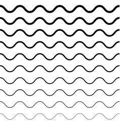 seamless pattern horizontal wavy lines vector image
