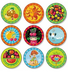 summer drink coasters vector image