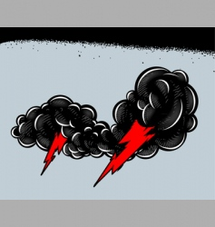 thundershower vector image