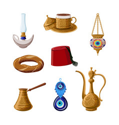turkish heritage icon set part 1 alladin lamp vector image
