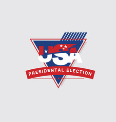United stated presidential election vote design vector
