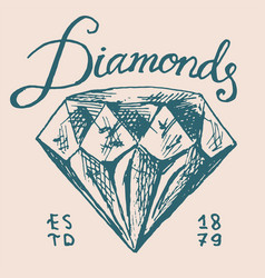 victorian diamond label women jewelry shop badge vector image