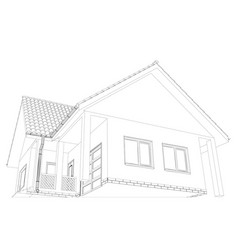 Wire-frame building on the white background vector