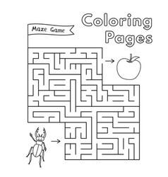 cartoon beetle maze game vector image