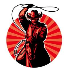 cowboy with lasso vector image