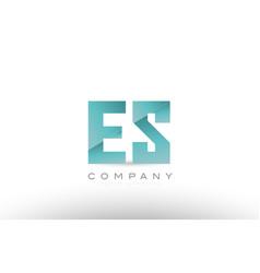 es e s alphabet letter green logo icon design vector image