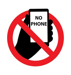 Forbidding Signs No Phone symbol vector image