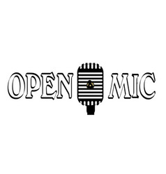 open mic night vector image vector image