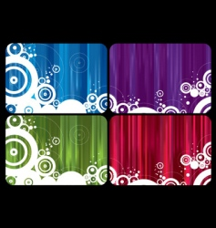rainbow cards vector image vector image