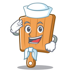 sailor kitchen board character cartoon vector image vector image