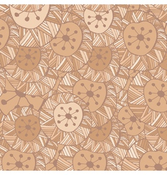 seamless Hand drawn ornamental pattern with circle vector image vector image