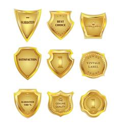 Set of golden vintagel design elements on white vector image vector image