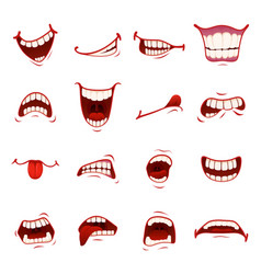 cartoon mouth with teeth vector image