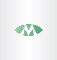 green logotype m letter m logo sign vector image vector image