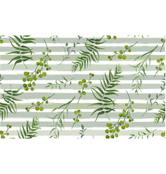 palm fern natural branches pattern seamless vector image