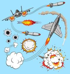 Plane set vector image vector image