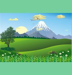 landscape - mountain range on the horizon vector image vector image