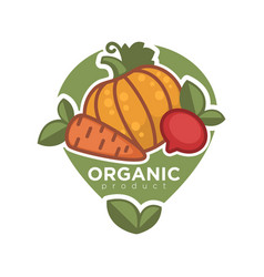 organic product advertising poster vector image