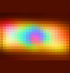 Red pink green blue brown abstract rounded mosaic vector