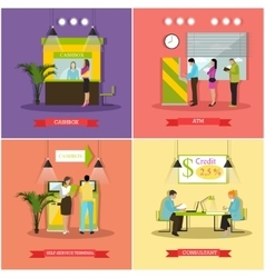 set of banking finance concept vector image