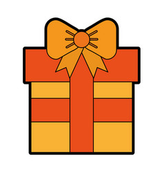 cute orange gift cartoon vector image