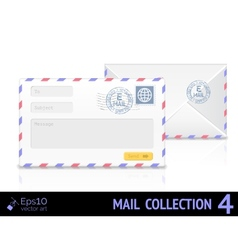 Email envelope isolated on white background vector image