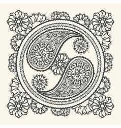 Hand drawn yin-yang sign vector image