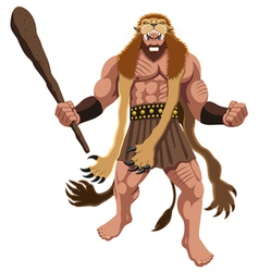 Heracles on White vector image vector image