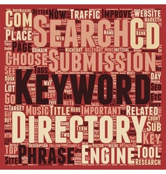 Keyword Research Guide How and Why text background vector image vector image