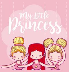 my little princess cute card vector image