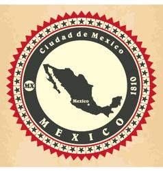 Vintage label-sticker cards of Mexico vector image vector image