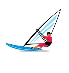 Windsurfing sign vector image