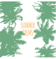 abstract colorful summer palms background vector image