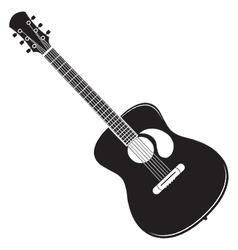 acoustic guitar royalty free vector image vectorstock rh vectorstock com acoustic guitar vector free download acoustic guitar silhouette vector free