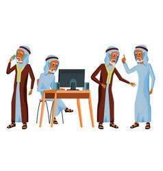Arab man office worker islamic vector