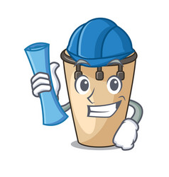 architect conga character cartoon style vector image