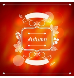 background stylized autumn leaves for greeting vector image