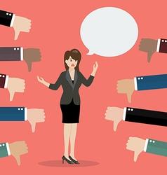 Bad speech from business woman vector