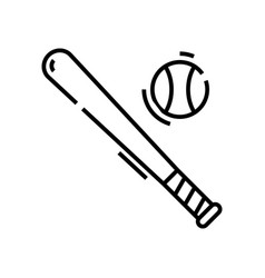 baseball tools line icon concept sign outline vector image