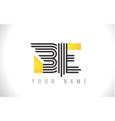 Be black lines letter logo creative line letters vector