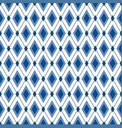 Blue diamond seamless pattern strict elegant vector