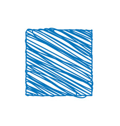 blue square sketchy background vector image