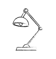 Blurred silhouette cartoon modern style desk lamp vector